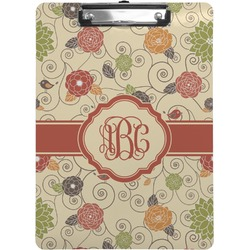 Fall Flowers Clipboard (Personalized)