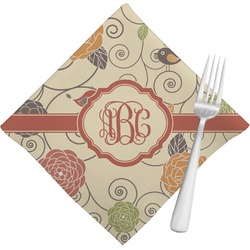 Fall Flowers Cloth Napkins (Set of 4) (Personalized)