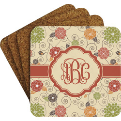 Fall Flowers Coaster Set (Personalized)