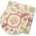 Fall Flowers Rubber Backed Coaster (Personalized)