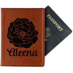 Fall Flowers Leatherette Passport Holder (Personalized)