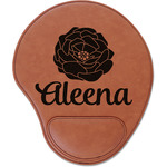 Fall Flowers Leatherette Mouse Pad with Wrist Support (Personalized)