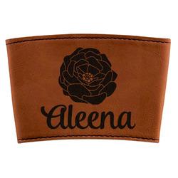 Fall Flowers Leatherette Mug Sleeve (Personalized)