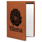 Fall Flowers Leatherette Portfolio with Notepad (Personalized)