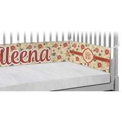Fall Flowers Crib Bumper Pads (Personalized)