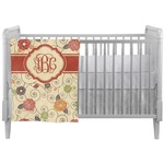 Fall Flowers Crib Comforter / Quilt (Personalized)
