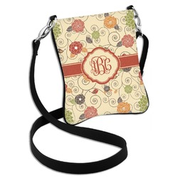 Fall Flowers Cross Body Bag - 2 Sizes (Personalized)