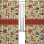 Fall Flowers Curtains (2 Panels Per Set) (Personalized)