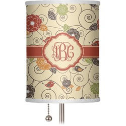 """Fall Flowers 7"""" Drum Lamp Shade (Personalized)"""