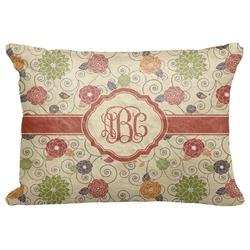 "Fall Flowers Decorative Baby Pillowcase - 16""x12"" (Personalized)"