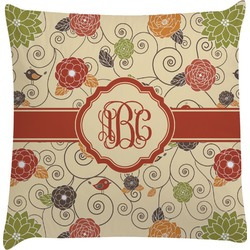 Fall Flowers Decorative Pillow Case (Personalized)