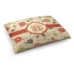 Fall Flowers Dog Pillow Bed (Personalized)