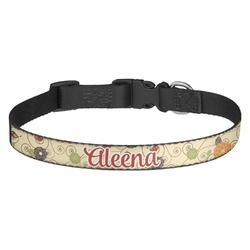 Fall Flowers Dog Collar (Personalized)