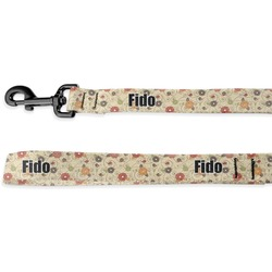 Fall Flowers Deluxe Dog Leash (Personalized)