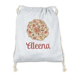 Fall Flowers Drawstring Backpack - Sweatshirt Fleece (Personalized)