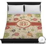 Fall Flowers Duvet Cover (Personalized)
