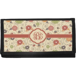 Fall Flowers Canvas Checkbook Cover (Personalized)