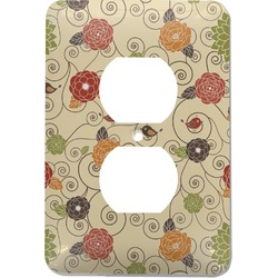 Fall Flowers Electric Outlet Plate (Personalized)