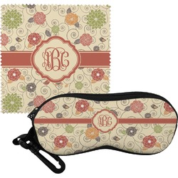 Fall Flowers Eyeglass Case & Cloth (Personalized)