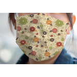 Fall Flowers Face Mask Cover (Personalized)