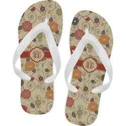 Fall Flowers Flip Flops (Personalized)