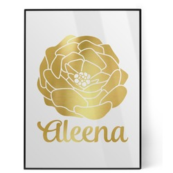 Fall Flowers Foil Print (Personalized)