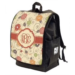 Fall Flowers Backpack w/ Front Flap  (Personalized)