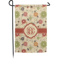 Fall Flowers Garden Flag - Single or Double Sided (Personalized)