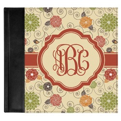 Fall Flowers Genuine Leather Baby Memory Book (Personalized)