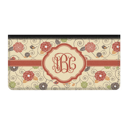 Fall Flowers Genuine Leather Checkbook Cover (Personalized)
