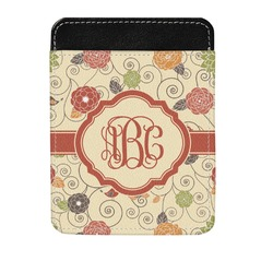 Fall Flowers Genuine Leather Money Clip (Personalized)