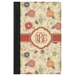 Fall Flowers Genuine Leather Passport Cover (Personalized)