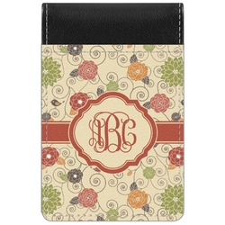 Fall Flowers Genuine Leather Small Memo Pad (Personalized)