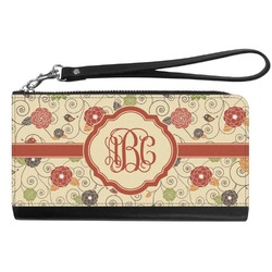 Fall Flowers Genuine Leather Smartphone Wrist Wallet (Personalized)