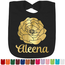Fall Flowers Foil Toddler Bibs (Select Foil Color) (Personalized)