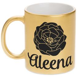 Fall Flowers Gold Mug (Personalized)