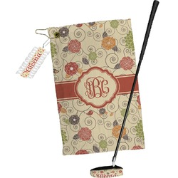 Fall Flowers Golf Towel Gift Set (Personalized)