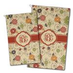 Fall Flowers Golf Towel - Full Print w/ Monogram