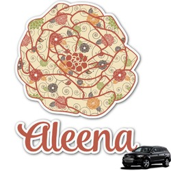 Fall Flowers Graphic Car Decal (Personalized)
