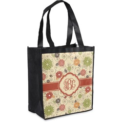 Fall Flowers Grocery Bag (Personalized)