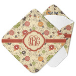 Fall Flowers Hooded Baby Towel (Personalized)