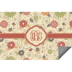 Fall Flowers Indoor / Outdoor Rug (Personalized)