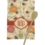 Fall Flowers Kitchen Towel - Full Print (Personalized)