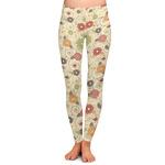Fall Flowers Ladies Leggings (Personalized)