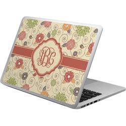 Fall Flowers Laptop Skin - Custom Sized (Personalized)