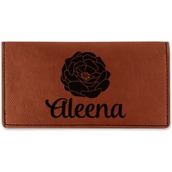 Fall Flowers Leatherette Checkbook Holder (Personalized)