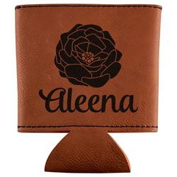 Fall Flowers Leatherette Can Sleeve (Personalized)