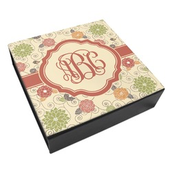 Fall Flowers Leatherette Keepsake Box - 3 Sizes (Personalized)