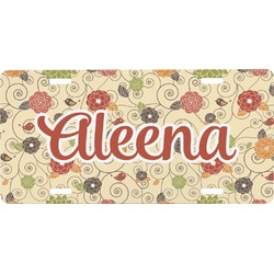 Fall Flowers Front License Plate (Personalized)