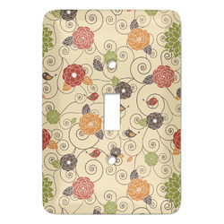 Fall Flowers Light Switch Covers - Multiple Toggle Options Available (Personalized)